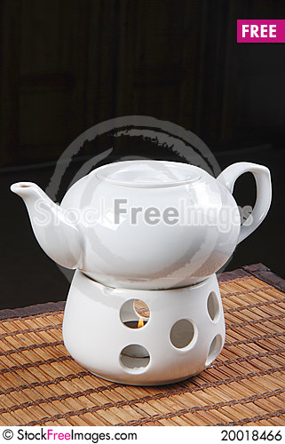White teapot Stock Photo