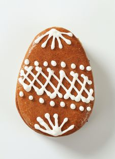 Gingerbread Easter Egg Royalty Free Stock Photography