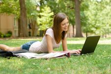 Free Pretty Student Doing Homework Royalty Free Stock Image - 20010216