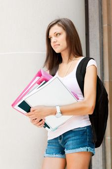 Free Pretty Student Ready For Class Stock Image - 20010291