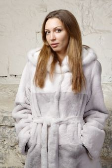 Free Stunning Sexy Young Woman In Fur Coat Stock Photo - 20010800
