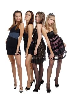 Group Of Stunning Sexy Girl Royalty Free Stock Photos