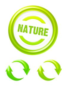 Free Nature Icons Royalty Free Stock Photos - 20011108
