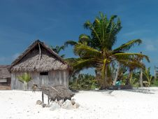 Coconut Palm Leaves Hut. Royalty Free Stock Photography
