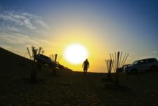 Free Desert Sunset Shadow Stock Image - 20011211
