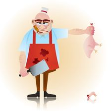 Free Butcher Guy Royalty Free Stock Photo - 20011215