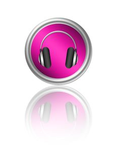 Free Headphone Button Royalty Free Stock Images - 20011349