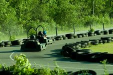Free Go-cart Track And Cars Stock Photo - 20012190