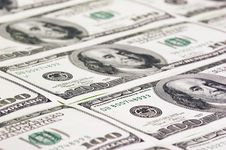 Free Hundred US Dollars Close Up Stock Images - 20012984
