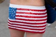 Free American Flag Skirt Stock Photo - 20013160
