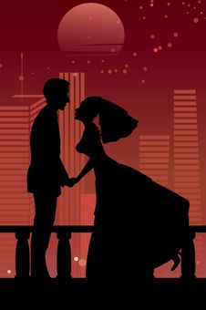 Free Cool Bride And Groom Royalty Free Stock Photo - 20013795