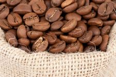 Free Coffee Beans In A Bag Royalty Free Stock Photos - 20014428