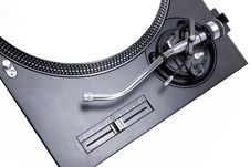 Free Isolated Turntable With White Vinyl Record Royalty Free Stock Photography - 20014627
