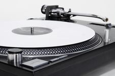 Free Turntable With White Vinyl Record Stock Photography - 20014642