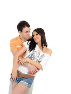 Free Sweet Young Summer Couple In Love Stock Photo - 20014830