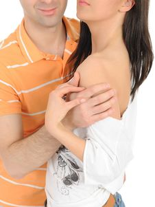 Free Body Parts.couple Hugging Stock Image - 20014841