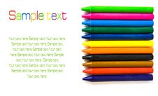 Free Wax Color Crayons Isolated Stock Image - 20015521
