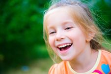 Free Cute Little Girl  On The Meadow Royalty Free Stock Photography - 20015527