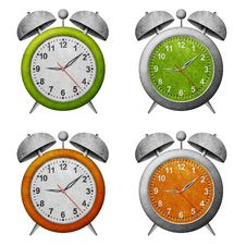 Free Clock Recycled Paper Craft Royalty Free Stock Photos - 20015638