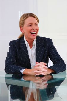 Free One Woman In Office Stock Photography - 20017662