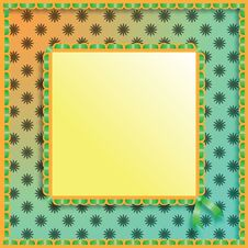 Free Green Frame With A Ribbon. Royalty Free Stock Photos - 20017868