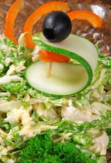 Salad With Cabbage Royalty Free Stock Images