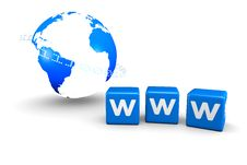 World Globe And WWW Concept Royalty Free Stock Photo