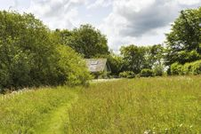 Free Hay Meadow And Secluded Barn Royalty Free Stock Photos - 20019038