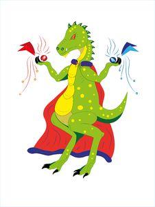 Free Dinosaur The Magician. Royalty Free Stock Photo - 20019705