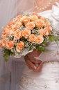 Free Bride Holding Orange Bouquet Detail Stock Photo - 20020290