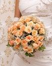 Free Bride Holding Orange Bouquet Detail Royalty Free Stock Photo - 20020295