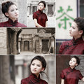 Free Chinese Cheongsam Beauty In Alley Stock Photos - 20026603