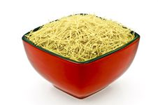 Free A Red-Black Dish Full Of Vermicelli Stock Photo - 20020360