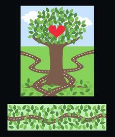 Green Milieu Pattern Stock Image