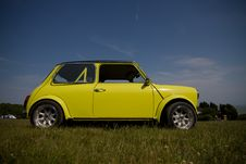 Free Old Yellow Mini Stock Image - 20022161