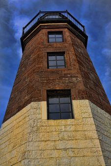 Point Judith Lighthouse. Royalty Free Stock Image