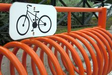 Free Bicycle Stand Royalty Free Stock Photos - 20022868
