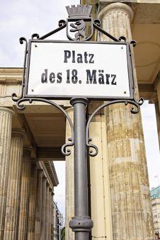 Berlin - The Brandenburg Gate Royalty Free Stock Image
