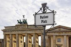 Berlin - The Brandenburg Gate Royalty Free Stock Photos