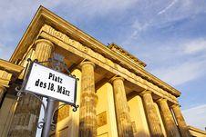 Berlin - The Brandenburg Gate Stock Photo
