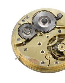 Free Clockwork Close Up, Separated White Background Stock Photos - 20023733