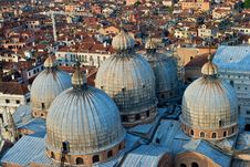 Free Domes Of St Marks Basilica Stock Image - 20023981