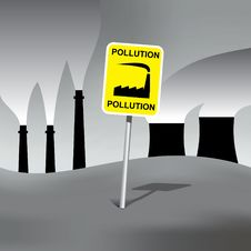 Pollution Sign Stock Photos