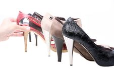 Free Woman Shoes Royalty Free Stock Photos - 20025658