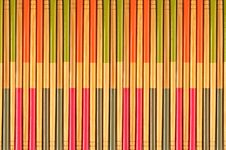 Free Decorative Texture Of Bamboo Chopsticks Royalty Free Stock Images - 20025719