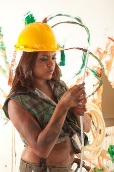 Free Female Constructor Stock Images - 20025794