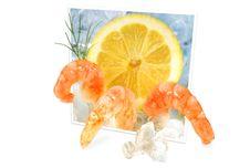 Free Shrimps On Ice Stock Image - 20025901