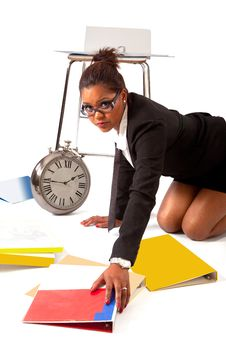 Free Buisiness Woman On The Floor Royalty Free Stock Photo - 20025995