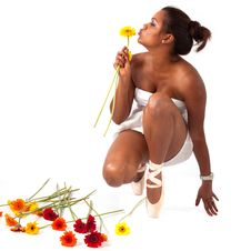 Free Ballet Act With Flowers Stock Photo - 20026000