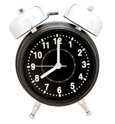 Free Black Alarm Clock Royalty Free Stock Images - 20026079